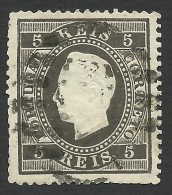 Portugal, 5 R. 1870, Sc # 34, Mi # 34xC, Used - Used Stamps