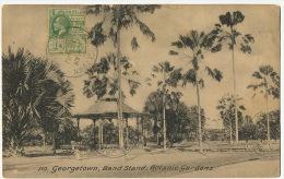 Guyana British Guiana Georgetown 110 Band Stand Botanic Gardens P.used 1924 To Brazil Tuck Collo Photo - Cartes Postales