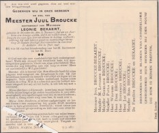 Meester Juul Broucke . Geb. Westkerke 1898/ Gest.Aalbeke 1943 - Religion & Esotericism