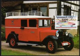 BRD 1983 - Reichspost Post Wagen - Ausstellung In Frankfurt Am Main - Maximumkarte MC - Post