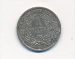 Kaiserzeit 1,- Mark  -Silber  1876 F  (x1802 ) Siehe Scan ! - 1 Mark