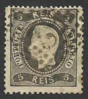 Portugal, 5 R. 1867, Sc # 25, Mi # 25, Used - Used Stamps