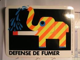 Autocollant - Défense De Fumer - 20cm X 15 Cm - Tabac (objets Liés)