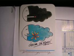 Autocollant - Chacun Son Espace - 20cm X 15 Cm - Tabac (objets Liés)
