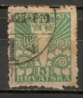 Timbres - Yougoslavie - 1919 - 5 F - - Oblitérés