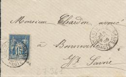 Lot N°27361   N°101/devant De Lettre, Oblit Cachet à Date TANINGES ( Haute Savoie ) - 1876-1898 Sage (Type II)