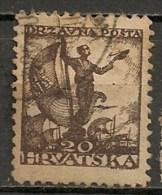 Timbres - Yougoslavie - 1919 - 20 F - - Oblitérés