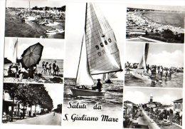 SALUTI DA SAN GIULIANO A MARE - FLORA LIRE 20 ISOLATO - C941 - Rimini