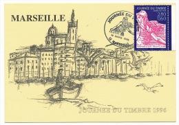 FRANCE => Carte Locale - 2,80 + 0,60 - Journée Du Timbre Semeuse - 13 Marseille 1996 - Stamp's Day