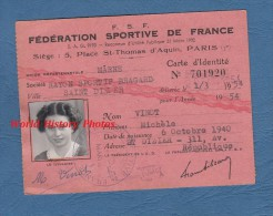 Carte Ancienne Fédération Sportive De France - SAINT DIZIER ( Haute Marne ) - Rayon Sportif Bragard - Michele Vinot - Sports