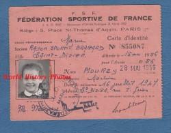 Carte Ancienne Fédération Sportive De France - SAINT DIZIER ( Haute Marne ) - Rayon Sportif Bragard - Martine Mourey - Sports