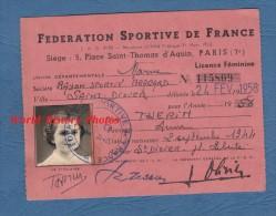 Carte Ancienne Fédération Sportive De France - SAINT DIZIER ( Haute Marne ) - Rayon Sportif Bragard - Anne THERIN - Sports