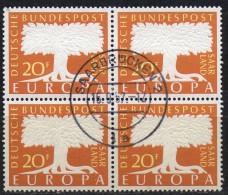 PIA - SARRE - 1957 :  Europa  - (Yv 384-85 X 4) - Europa-CEPT