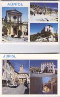 L02 . Auriol . 2 CPM Multiphotos . - Auriol
