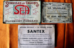 Lot 3 Buvards Usagés,Veldacine,Sea,Santex - Collections, Lots & Séries