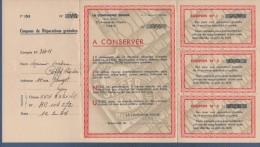 MACHINES A COUDRE LA COMPAGNIE SINGER PARIS 1934 - COUPONS DE REPARATION + COURRIER + ENVELOPPE TIMBREE - France