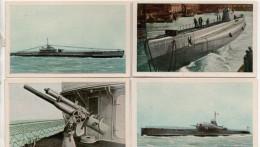 Nr.  3147,  LLOYD  Das Waffenstarrende Ausland, Kriegsmarine 4 Stück,  3,5 X 6 Cm - Warships