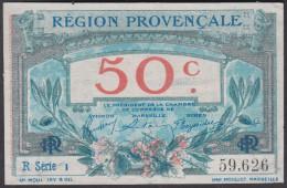 """Région Provencale  """" 50 Centimes  (JP 102/1) . - Chambre De Commerce"""