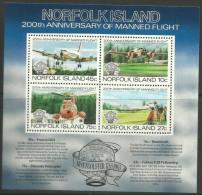 Norfolk Island - 1983 Manned Flight Souvenir Sheet  MNH  **   SG MS308  Sc 313a - Norfolk Island