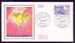 FDC Premier Jour - Victor Hugo - 1985 - FDC