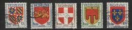 """FR YT 834 à 838 """" Armoiries De Province 4è Série """" 1949 Oblitérés - Usati"""