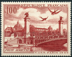 France PA (1949) N 28 * (charniere) - Poste Aérienne