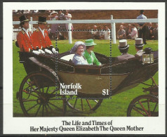Norfolk Island - 1985 Queen Mother S/sheet MNH  **   SG MS368  Sc 368 - Norfolk Island
