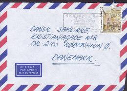 """Monaco Airmail Par Avion Luftpost Flamme """"Medicinale Internationale"""" MONTE CARLO 1989 Cover Lettre Place St. Nicolas - Monaco"""
