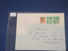 ALGERIE - TYPE MOISSONEUSE EA Sur Lettre D´Aout 1962 - Surcharge De Bone - Détaillons Collection - Lot 1162 - 1957-59 Moissonneuse