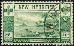 BRITISH NEW HEBRIDES LANDSCAPE GREEN PART SET OF 1 STAMP 5 CENTIMES UHD 1938 SG52 READ DESCRIPTION !! - Légende Anglaise