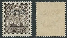 1939 SOMALIA RECAPITO AUTORIZZATO 10 CENT MNH ** - K74 - Somalia