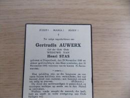 Doodsprentje Gertrudis Auwerx Diepenbeek 29/11/1849 - 16/11/1941 ( Henri Stas ) - Religion & Esotérisme