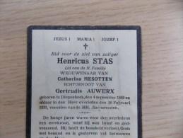 Doodsprentje Henricus Stas Deipenbeek 4/9/1849 - 16/2/1931 ( Catharina Mesotten En Gertrudis Auwerx ) - Religion & Esotérisme