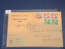 ALGERIE - EA Sur Lettre Recommandée De Batna De Juillet 962 - Détaillons Collection - Lot 1181 - Covers & Documents