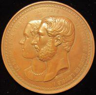 M01825 LEOPOLD I - LE HAINAUT LA DYNASTIE NATIONALE 27 ANNEE Du REGNE - 1859 (213.9 G) L. WIENER - Allégories Au Revers - Royaux / De Noblesse