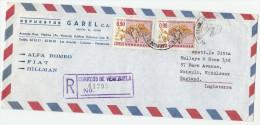 1970 REGISTERED Air Mail COVER VENEZUELA  Stamps 2x 0.90 NATURE CONSERVATION Papilionatae Plant To Gb Environment - Venezuela