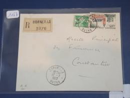 ALGERIE - EA Sur Lettre Recommandée De Batna De Juil 1962 - Surcharge à La Main -  Détaillons Collection - Lot 1187 - Covers & Documents