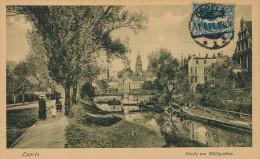 CPA SILESIA Silesie - OPPELN Opole - Plebiscite De 1921 - Partie Am Muhlgraben - Petite Animation - Cachet 11 Avril 1921 - Polen