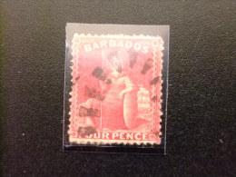 BARBADE - BARBADOS - YEAR 1876 BRITANIA - Yvert Nº 35 º FU - SG Nº 76 º FU - Barbados (...-1966)