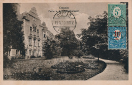 CPA SILESIE OPPELN OPOLE - GORNY SLASK - Partie In Den Schloss-Anlagen - Cachet 1920 Sur N° 21 Et 29 (surcharge) YT - TB - Polen