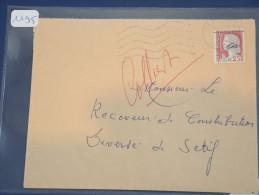 ALGERIE - EA Sur Lettre Recommandée De Setif 1962 - Surcharge à La Main -  Détaillons Collection - Lot 1195 - Algeria (1924-1962)