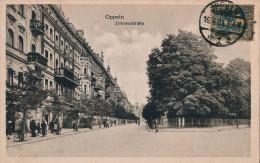 CPA SILESIE - OPPELN OPOLE - Plebiscite 1921 - Zimmerstrasse - Petite Animation - Cachet 16-04-1921 Sur N° 36 YT - TB** - Polen