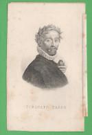 Torquato Tasso Piccolo Ritratto Stampa Secolo XIX - Vecchi Documenti