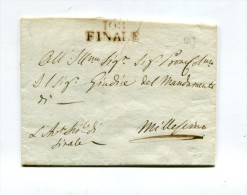 !!! DEPARTEMENT CONQUIS, 108 DEPT DU TANARO, UTILISATION TARDIVE DE LA MARQUE POSTALE DE FINALE (1817) - Poststempel (Briefe)