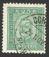 Portugal, 25 R. 1892, Sc # 71a, Mi # 70A, Used - 1892-1898 : D.Carlos I