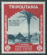 1934 TRIPOLITANIA ARTE COLONIALE 20 CENT MNH ** - K093 - Tripolitania