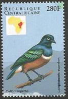Centrafricaine MNH 1999 - Superb Starling ( Lamprotornis Superbus ) - Uccelli Canterini Ed Arboricoli