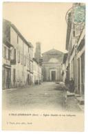 L'Isle Jourdain - Eglise (façade) Et Rue Lafayette ( édit. Tapie ) - France