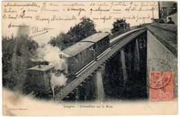 Langres - Crémaillère Sur Le Pont ( Train, Mairetet édit. ) - Langres