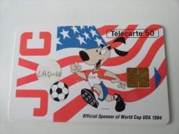 RARE : CARTE LAQUEE SUR JVC WORLD CUP 94 50U - Variëteiten